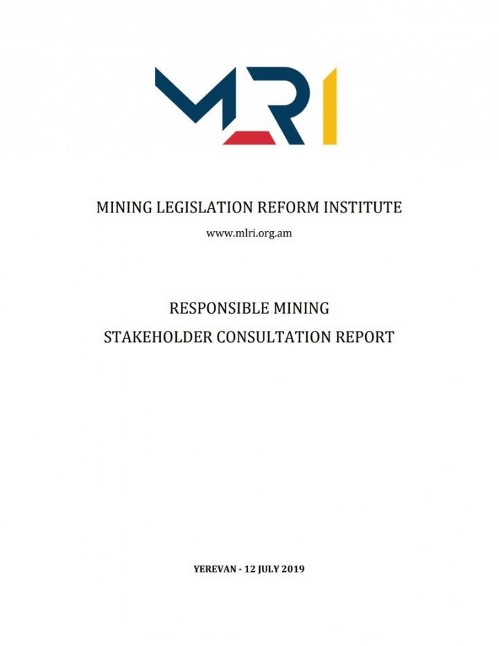 MLRI Responsible Mining Stakeholder Consultation Report