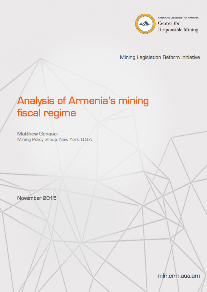 Analysis of Armenia's Mining Fiscal Regime
