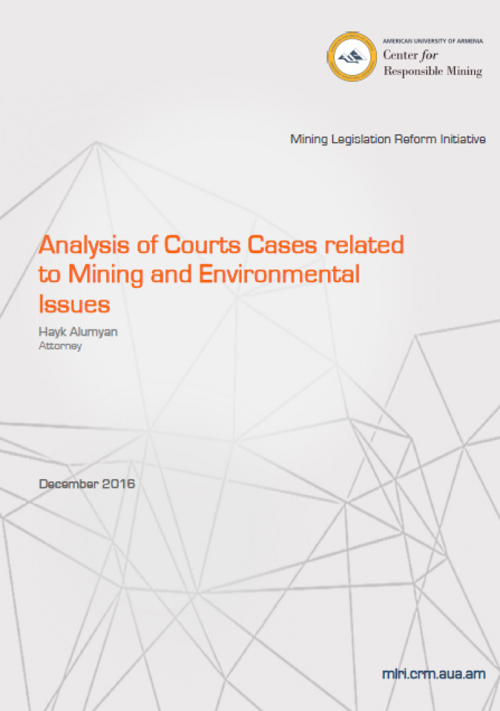 Analysis of Courts Cases Related to Mining and Environmental Issues