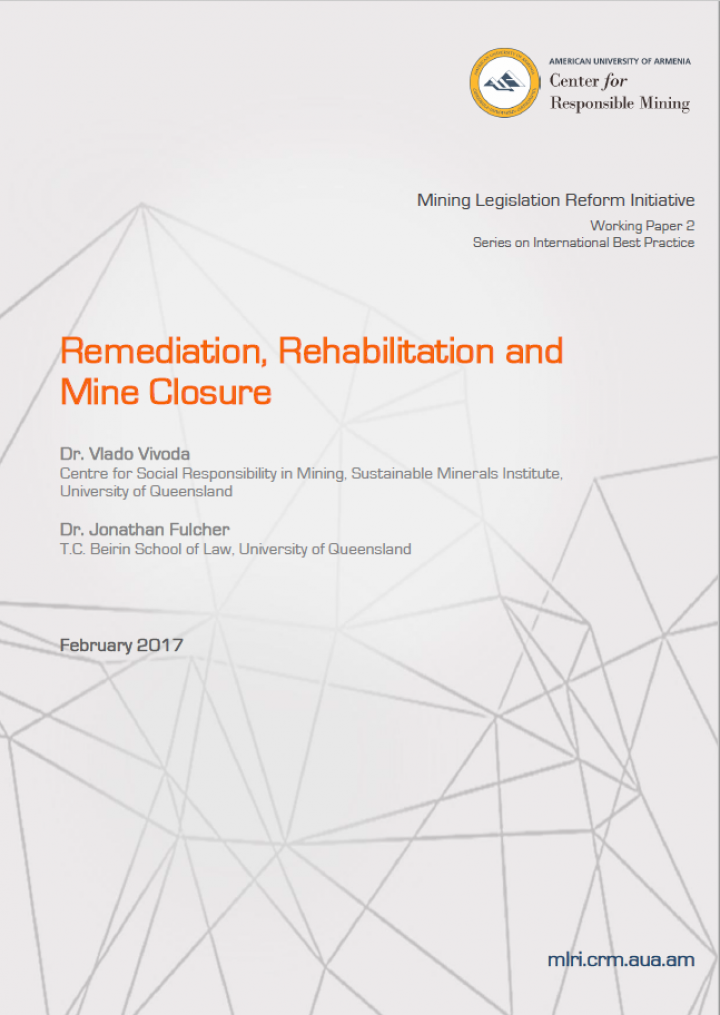 Remediation, Rehabilitation, and Mine Closure