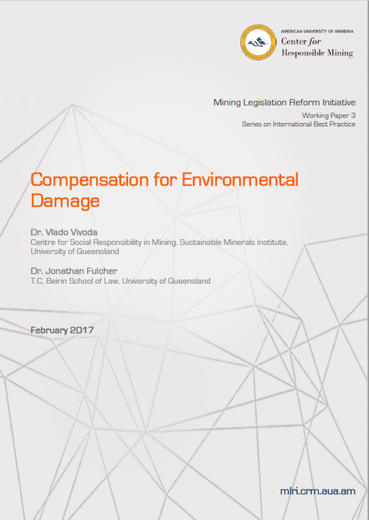 Compensation for Environmental Damage