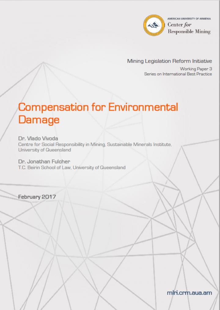 Compensation for Environmental Damage