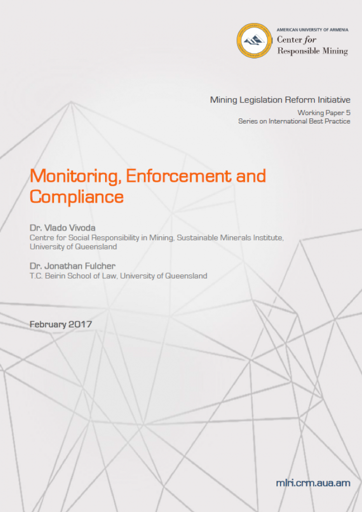 Monitoring, Enforcement, and Compliance